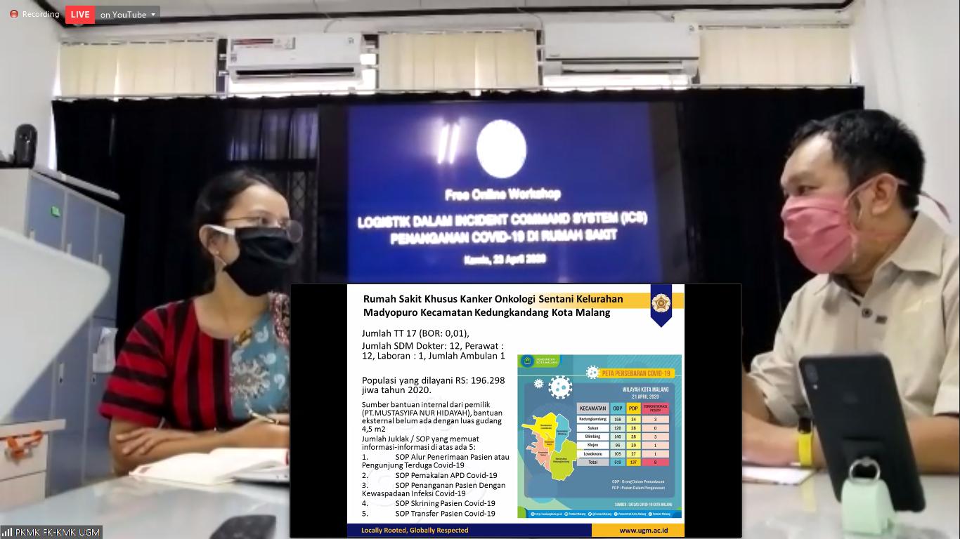 Laporan Kegiatan Webinar  Logistik Dalam Incident Command System (ICS) Penanganan Covid-19 di Rumah Sakit 23 April 2020