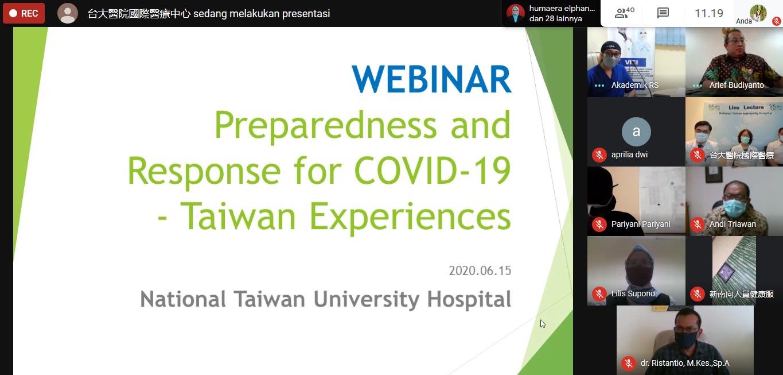 Webinar Preparedness and Response For COVID-19 Taiwan Experiences