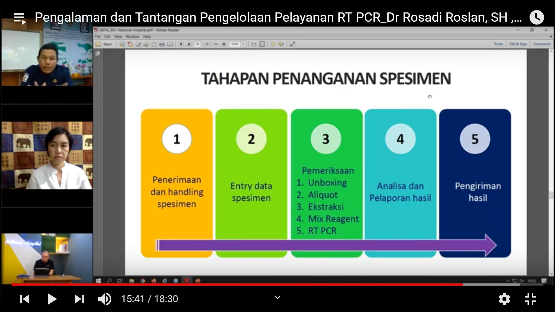 Pengalaman dan Tantangan Pengelolaan RT-PCR Rumah Sakit Swasta